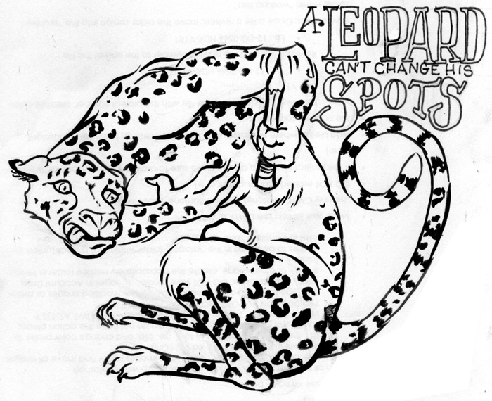 The meaning and origin of the expression: A leopard cannot change its spots