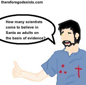 is belief in God like belief in Santa? 2